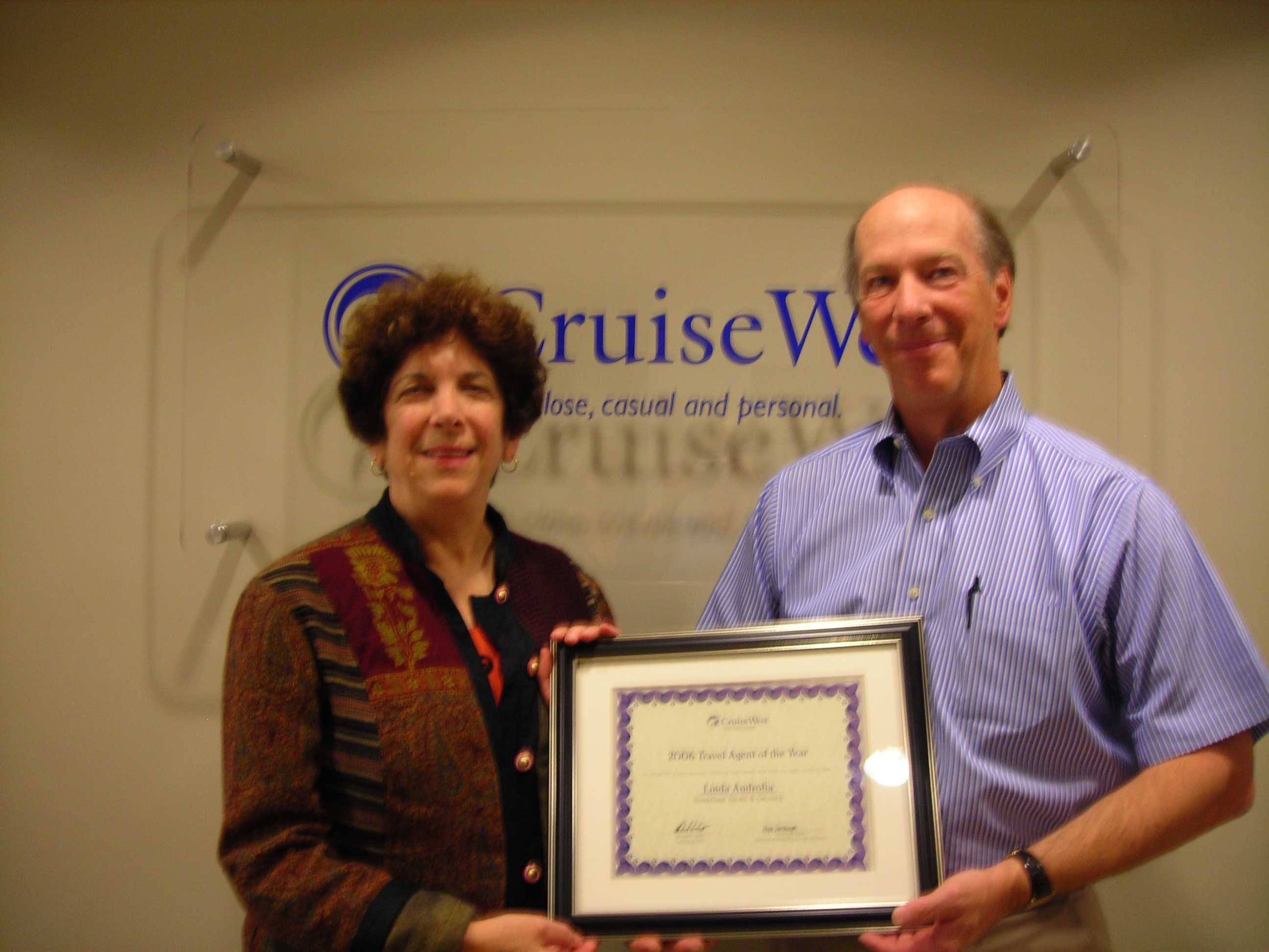 Linda of Sunstone & Jeff Krida, President of Cruise West