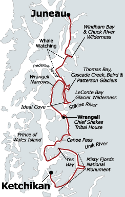 Alaska Eastern Coves Map