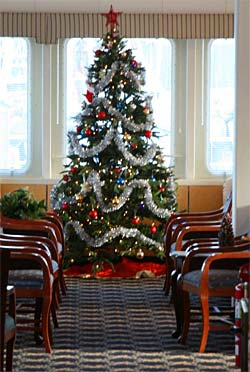 Christmas Tree onboard an American Cruise line ship.