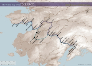 Iditarod Route Map