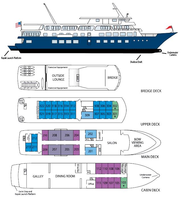 Safari Endeavour Deck Plans