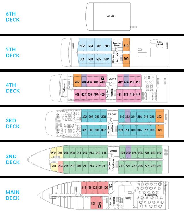 American Constellation Deck Plan